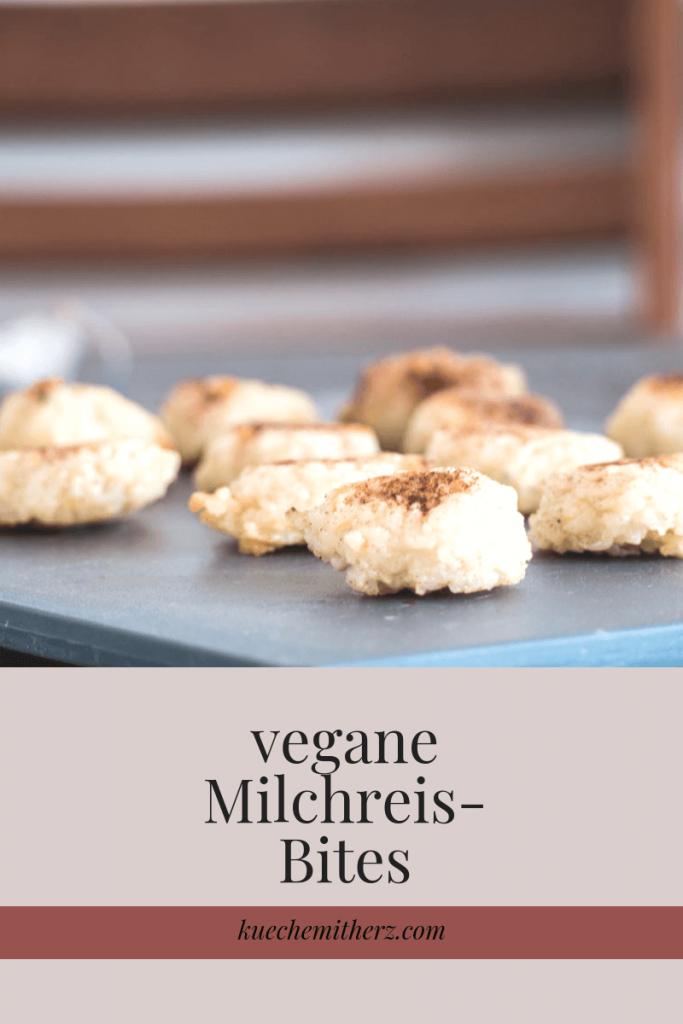 Arancini gehen auch in süß! Und Milchreis kann vegan sein. Wenn man beide Dinge mischt, gibt es die leckersten Milchreis-Bites. Jetzt auf Küche mit Herz!